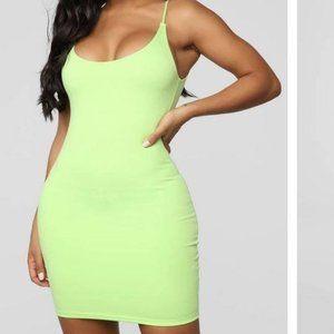 Lime Green Mini Dress